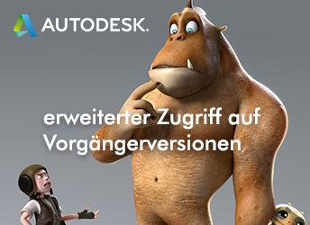 Erweiterter Zugriff auf Autodesk Vorgängerversionen