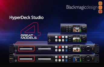 Neue HyperDeck-Studio-Modelle von Blackmagic Design